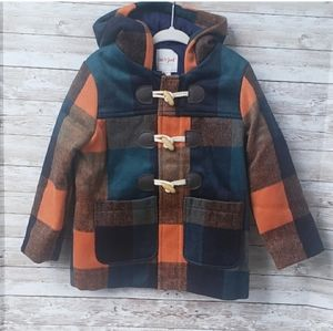 Cat and Jack Plaid Coat With Hood